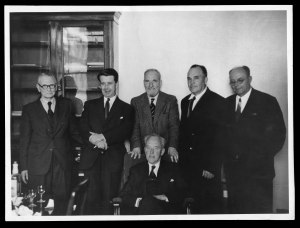 The Soviet delegation at the Geological Society, September 1957