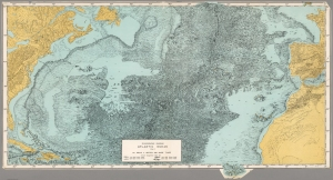 Physiographic Map of the Atlantic Ocean by Tharp and Heezen (1957)