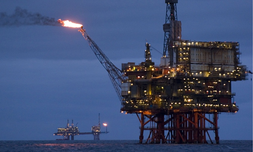 Image result for North Sea oil rig, photos