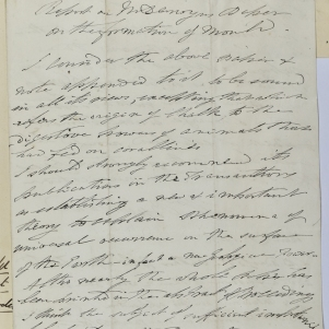 William Buckland's report on Charles Darwin's paper, 'On the Formation of Mould'