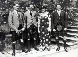 Lady MacRobert and her three sons, Alasdair, Roderic and Iain.