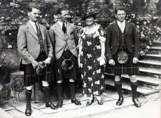 Lady MacRobert and her three sons, Alasdair, Roderic and Iain.