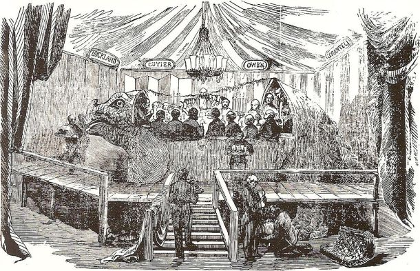 The Dinosaur Dinner, New Year's Eve 1853